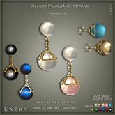 Lazuri Classic Pearls Multistrands - Matching Drop Earrings SALE