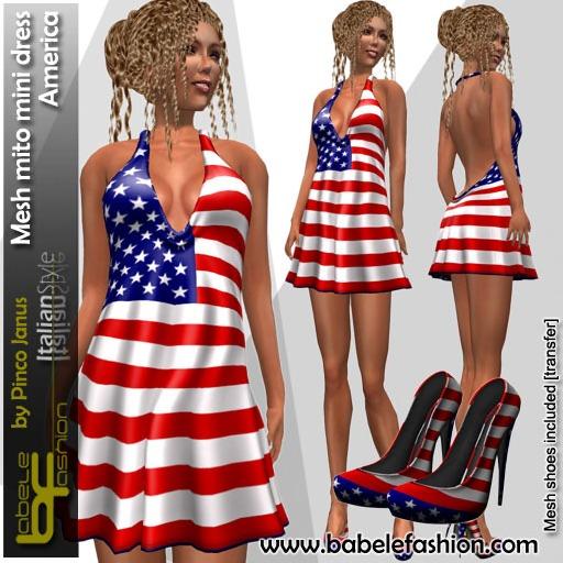 Babele Fashion Mesh Mito Minidress America