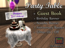 Dr3amweaver Happy Bday/Rezday/Anniv Table with Guest Book ** PROMO**