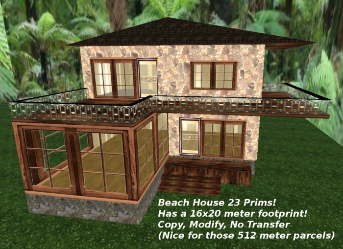 Beach House 23 Prims
