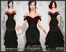 [Wishbox] Morgan (Three colors in one!) - Mesh Gothic Formal Fantasy Gown
