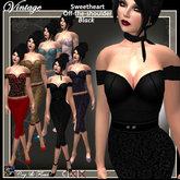 C&F Vintage Sweetheart Top - Black