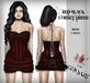 Corvus : Red Black Corset Dress