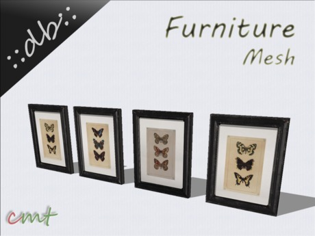 ::db furniture:: Picutre Frame Set Butterfly