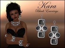 KARA BLACK EARRINGS - PROMO