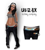 Mesh womens Low Slung Jeans With Boxer MONKEY