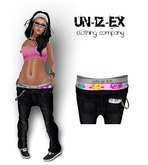 Mesh womens Low Slung Jeans With Boxer ZIG ZAG