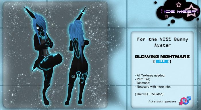 ! Ice Meep ! ~ Glowing Nightmare BLUE