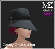 Miamai_Gatsby Onyx silk hat_unisex
