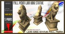 PROMO:Lion King Statue Full Perm EFE DESIGN