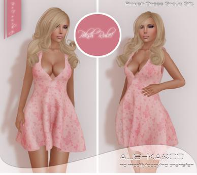 AUSHKA&CO-Pinkish Mesh Dress Gift