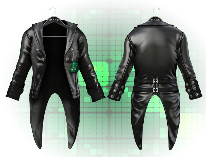 :{F.A.D.}: Rebel Men's Leather Jacket Black ::Tailcoat and Short Versions::