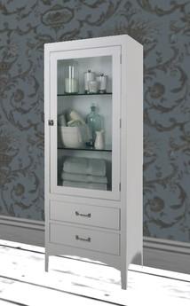 Albion Vintage White Bathroom Cabinet