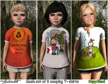 "Aphrodite  ""Camping girl"" kids MESH T shirt (Pack4)"
