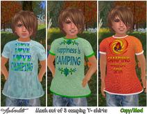 "Aphrodite  ""Camping boys"" kids MESH T shirt (Pack3)"