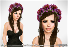 [Wishbox] Festival Crown (Paradise Purple) - Flower Wreath / Garland for Hair Headpiece