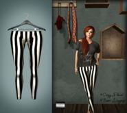 "Basic Leggings ""BW Stripes"" *Color change* (system layer) - even.flow"