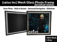 [satus Inc] Mesh Glass Photo Frame [brushed metal]