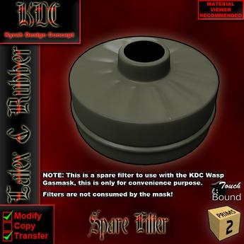 KDC Spare Gasmask Filter
