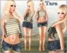 (2Chez) Tara Mesh Tank, Shorts, & Sandals - Rigged Mesh Tank & Shorts, Non-Rigged Mesh Sandals with HUD