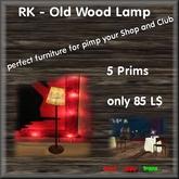 RK - Old Wood Lamp
