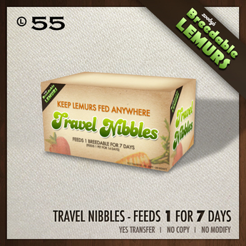 Zooby's - 7 Day Lemur Travel Nibbles