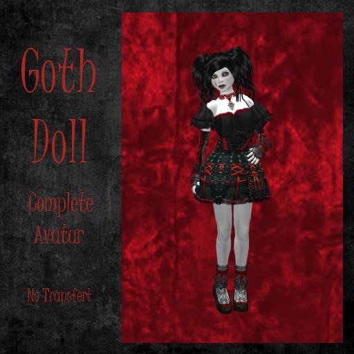 *ALT* Goth Doll (Complete Avatar)