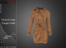 PZ - Trench Coat Taupe Gold [MESH]