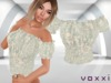 .::voxxi::. [Luba] Peasant Blouse Blue Leaves