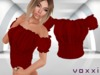 .::voxxi::. [Luba] Peasant Blouse Dark Red