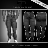 (M) Indiana Jeans - Black (For L'uomo Mesh Avatar)