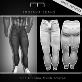 (M) Indiana Jeans - White (For L'uomo Mesh Avatar)
