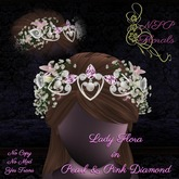 NSP Lady Flora Crown in Pink Diamond & white Gold