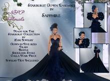 NSP Starburst Gown in Sapphire