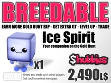 Shubbies Ice Spirit - Increase Gold Hunt Experience - Get More Gold - Breed Powerful Shubbies