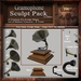 Gramophone Sculpt Pack 1st Edition, Sculpted Antique Gramophone, 10 Sculpty Maps & 9 Textures Full Perms - Sculpties