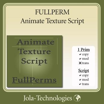 FULLPERM Animate Texture Script