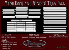 Mesh Window and Door Trim Pack - Low Impact! - .5 prim per Piece