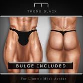 (M) - Thong -Black (For L'uomo Mesh Avatar)
