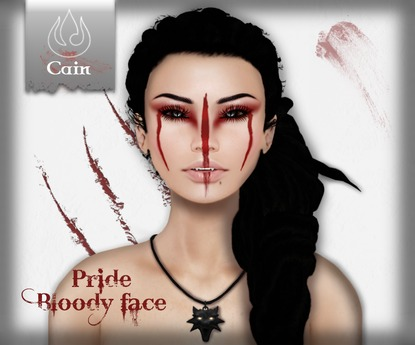Cain - Pride - Bloody Face - Tattoo