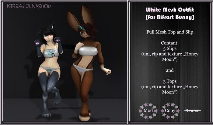 ;;@KiJu@:: White Mesh Bifrost Bunny Outfit