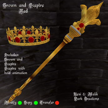 Crown and Sceptre Red
