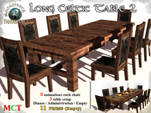 !! MOONSTRUCK !! Celtic Long Table 2 & Chairs - Interactive
