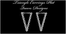 Triangle Earrings Plat
