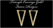 Triangle Earrings Gold