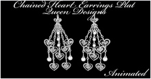 Chained Heart Earrings Plat Animated