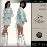 :KR: His Shirt - Striped Light - Teal
