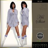 :KR: His Shirt - Striped Light - Blue