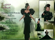 NSP Starburst Gown in Emerald