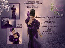 NSP Starburst Gown in Amethyst